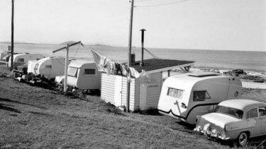 Mooloolaba Beach Caravan Park, circa 1950.