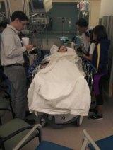 An image of Julie Swann-Paez in the hospital following the San Bernardino shooting.