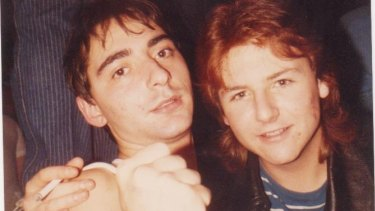 Uni buddies Mark Dapin (at left) and Graham Caveney in the mid-1980s.