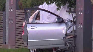 The car involved in a fatal shooting at Heckenberg.