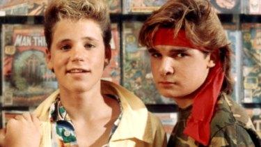 Haim and Corey Feldman in 1987's <i>The Lost Boys</i>.