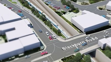 An artist's impression of Blackburn Road once the level crossing there is removed.