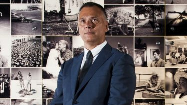 SBS journalist Stan Grant at the National Archives in Canberra.