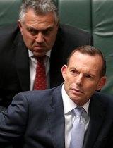 Treasurer Joe Hockey and Prime Minister Tony Abbott.