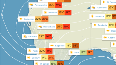 WA weather for Monday December 28