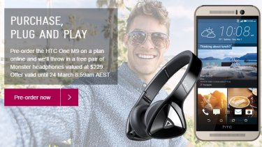 Telstra is offering premium headphones to go with the premium handset.