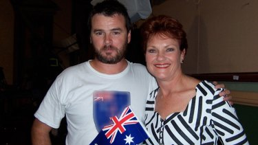 Party for Freedom's Nick Folkes, pictured with Pauline Hanson.