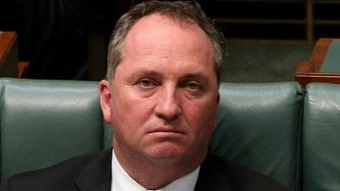 Barnaby Joyce has been given a campaign headache.