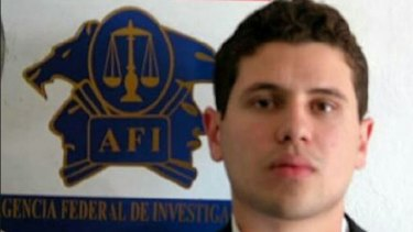 "An arrest shot of Ivan Archivaldo Guzman, son of Joaquin ""El Chapo"" Guzman."