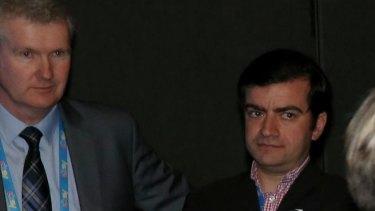 Tony Burke and Senator Sam Dastyari.