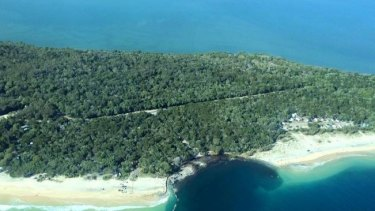 As captured by Higgins Storm Chasers, the erosion-hole that claimed a caravan and a car at Inskip Point, and triggered the evacuation of 140 campers.