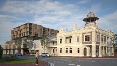 The State Government has given the go-ahead to a five-storey residential development behind the Guildford Hotel. (Artist's impression)