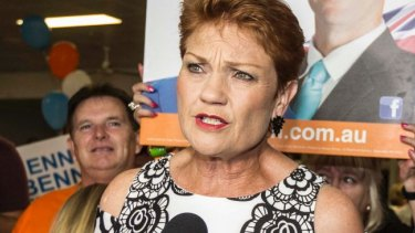 """One Nation leader Pauline Hanson declared the party's election result was """"fantastic"""", despite falling well short of predictions."""