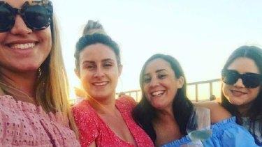 Friends Julia Rocca, Steph Lamb, Julia Monaco and Alana Reader on holiday in Rome. Steph Lamb did not go to Barcelona.