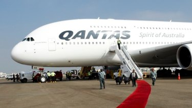 Qantas has 12 A380s in its fleet which can each carry 484 passengers on routes to Los Angeles, London, Dallas and Hong Kong.