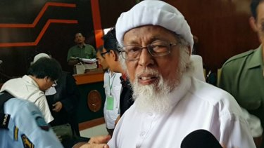 Indonesian Islamist figure Abu Bakar Bashir appears in court earlier this year. One challenge identified by the report was widening Australian perceptions of Indonesia beyond terrorism and extremism.