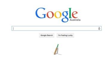 Tribute: the Google Australia homepage.