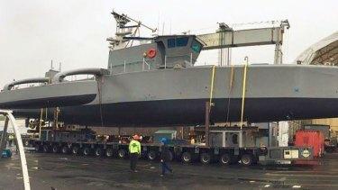 The Sea Hunter, drone ship.