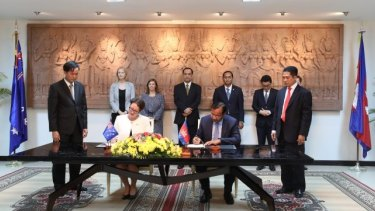 """The memorandum of understanding established """"a new step in enhancing the existing friendly relations and bilateral cooperation,"""" Cambodia said."""