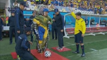 Juliano Pinto, a 29-year-old paraplegic kicked off the 2014 World Cup by using his mind to control the movement of his previously paralysed legs.