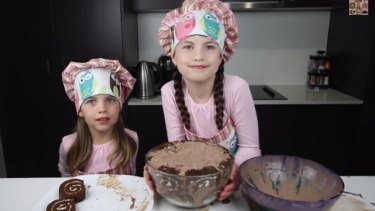 Ashley, 5, and Charli, 8, rising stars of Charli's Crafty Kitchen.