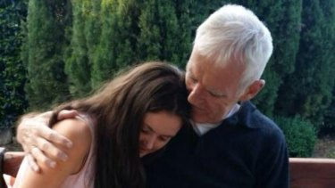 Sinead Halliday with her father, Brendan.