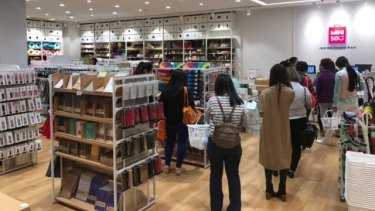 Miniso has three stores in Sydney and Chatswood, Hurstville and Bondi Junction and has instructed retail leasing agents to find a further seven in Sydney and 10 in Melbourne.