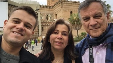 Last picture:Javier Camelo in a selfie with his his father, José Arturo Camelo, and his mother, Miriam Martinez Camelo, in the Italian city of Palermo.