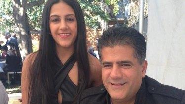 Mr Hindi and his daughter Rachel.