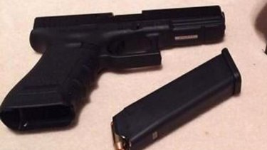 A photo of a pistol on Josh Taylor's Facebook page.