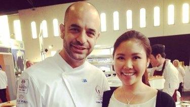 Aspiring pastry chef Miming Listiyani with Adriano Zumbo.