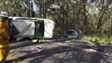 Matt Tudor's blue Mazda collided head-on with a ute on October 19.