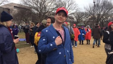 Evan Matheson dressed for the occasion at Donald Trump's inauguration.