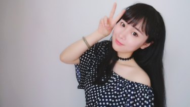 """A selfie taken by Liu Jinyu, a 21-year-old intern from Zhejiang province. """"Every photo must be adjusted through Meitu before I post them,"""" she said."""