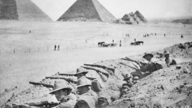 Australian troops went to Mena Camp, Egypt, an AIF training base, before the Gallipoli landings.