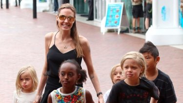 """""""None of my kids want to be actors,"""" Jolie said."""