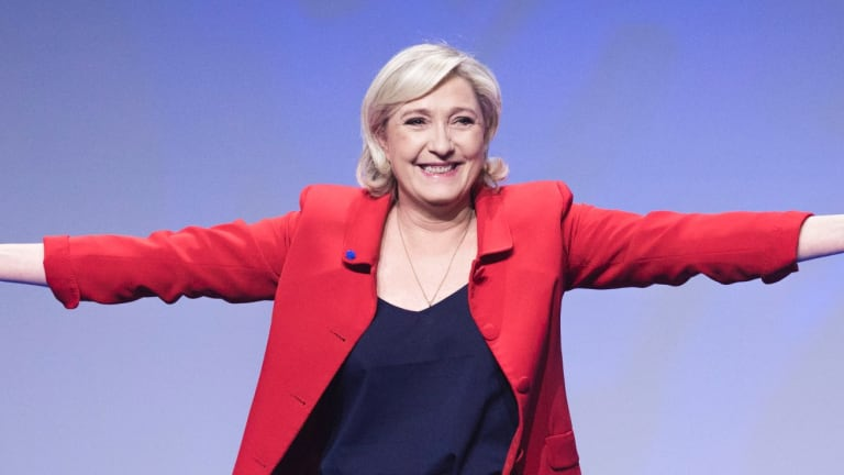 Far-right candidate for the presidential election Marine Le Pen.