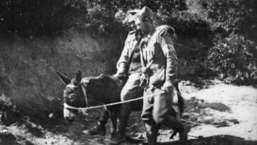 Private John Simpson Kirkpatrick supports a wounded soldier on his donkey at Gallipoli. How many others suffered less visible injuries during World War I?