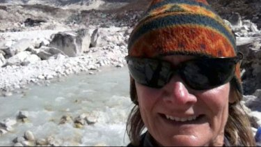 Angela Macdonald-Smith, in happier times in Nepal.