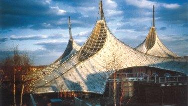 Frei Otto 1967 Expo Pavilion. Photo from the film Frei Otto: Spanning the Future.