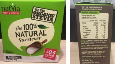 Founder of Natvia sweetener Sam Tew said the brands use of 'natural' is valid because it is made from 100 per cent natural sweeteners.