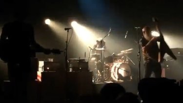 The Eagles of Death Metal on stage at the Bataclan, moments before shots were fired.