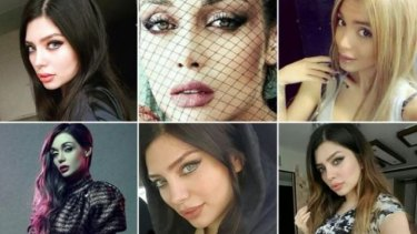 Iranian women posing on Instagram without hijab.