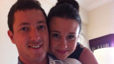 Stephanie Scott and her fiance Aaron Leeson-Woolley.
