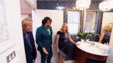 'Love': Kate and Harry's bathroom was also a winner for House Rules judges.
