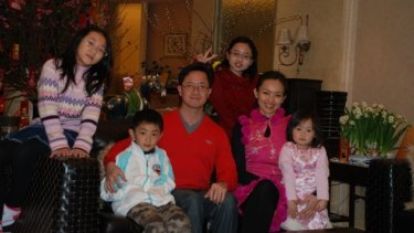 Matthew Ng and Niki Chow with his children (from left) Isabella, Hugo, Megan and Alexandra.