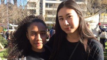 Cyndi Makabory and Han Nguyen.