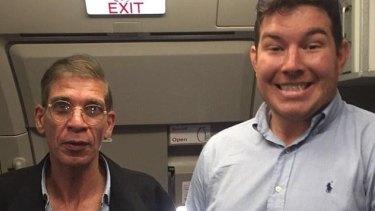"Peak stupid: British passenger Ben Innes gets the ""best selfie ever"" with a hijacker."