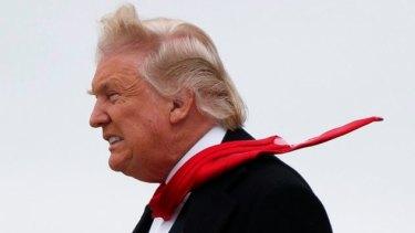 President-elect Donald Trump modelling his latest fashion statement.