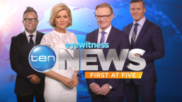 Ten's Sydney news team in 2016.